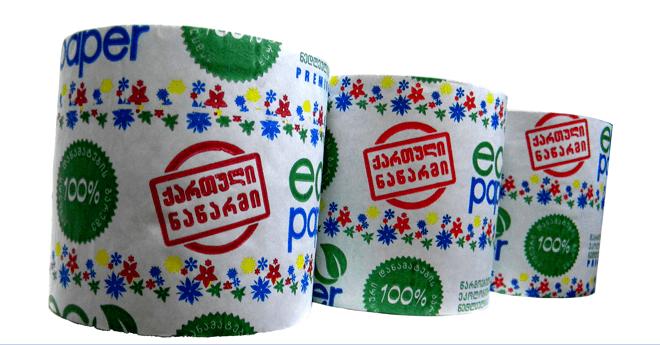 eco paper - ქართული წარმოების ტუალეტის ქაღალდი