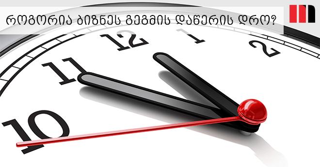 ბიზნეს გეგმის დაწერის დრო